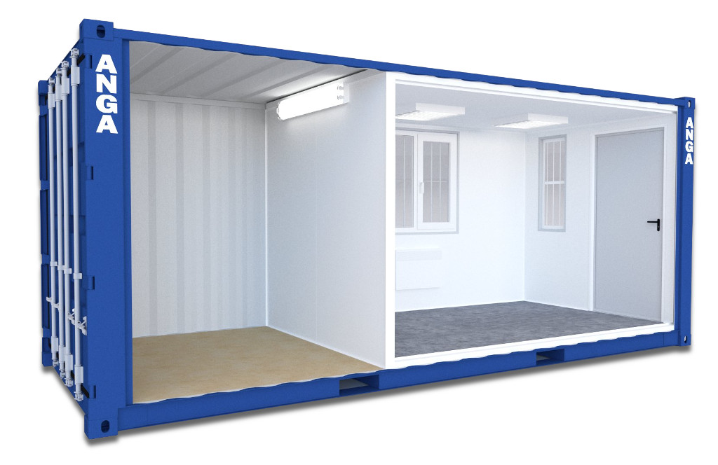 Warehouse and office container