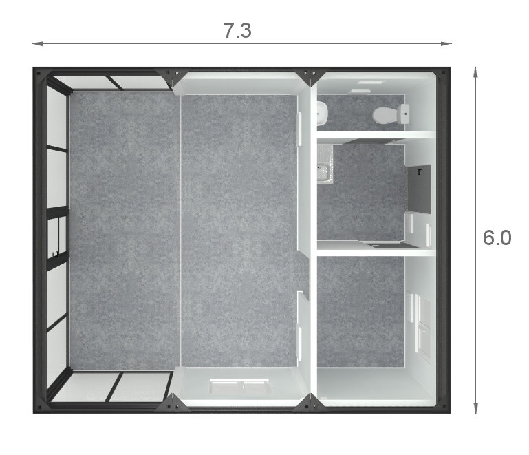 kontenery handlowe - projekt