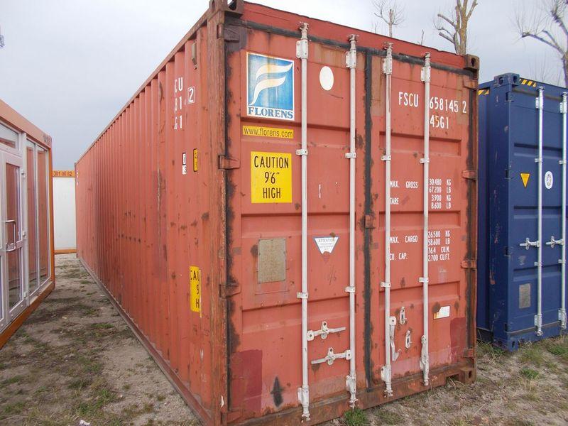 niebieski-używany-kontener-morski-ISO-40HC