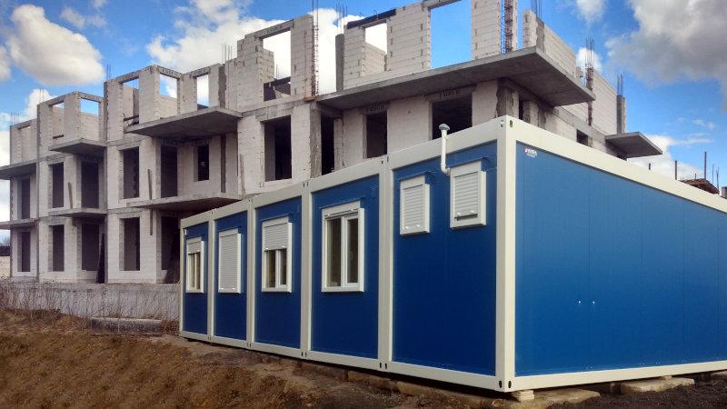 biuro z kontenerów budowlanych