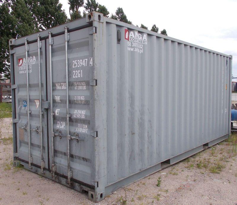 używany niebieski kontener ISO 20'