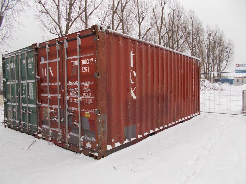 używany brązowy kontener morski ISO 20'