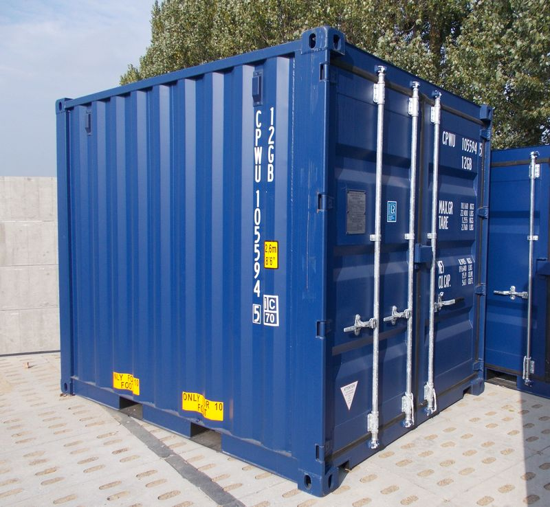 nowy niebieski kontener morski 10'