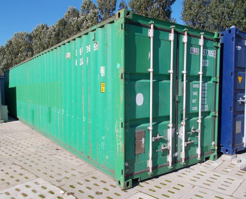 używany zielony kontener ISO 40